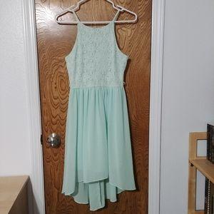 Mauricez Mint green sleeveless high low dress